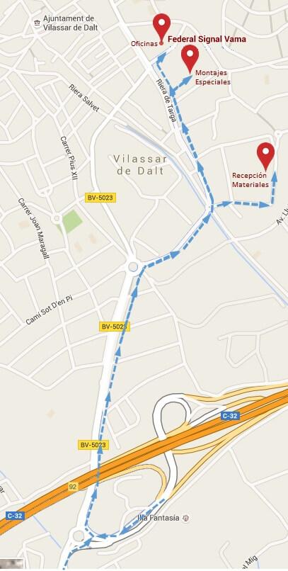 mapa autopista